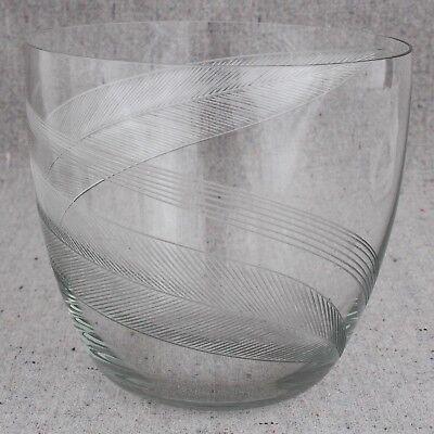 "Vintage Kaj Franck Nuutajarvi Notsjo Etched Feather Leaves Studio Glass Vase 4"" for sale  Shipping to Ireland"