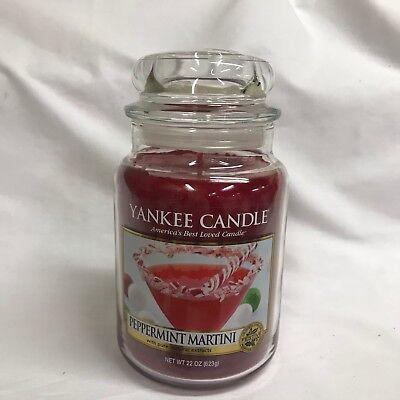 Yankee Candle PEPPERMINT MARTINI Large 22 oz Jar Candle  ](Peppermint Martini)