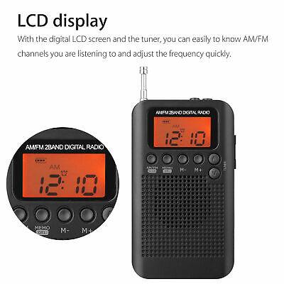Usado, Receptor de radio portátil AM / FM 2Way LCD Antena telescópica Batería Radio segunda mano  Embacar hacia Spain