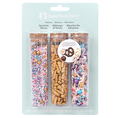 American Crafts Sweet Tooth Fairy Born To Sparkle Unicorn Sprinkle Mix - 3 Piece](Glitter Sprinkles)