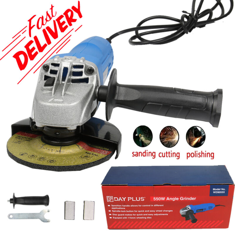 550W+Corded+Electric+Angle+Grinder+115mm+Heavy+Duty+Cutting+Grinding+Small+Mini%E2%9D%97