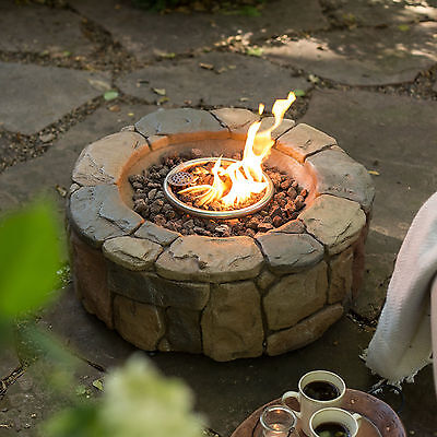 New Outdoor Gas Fire Pit Round Burning ...