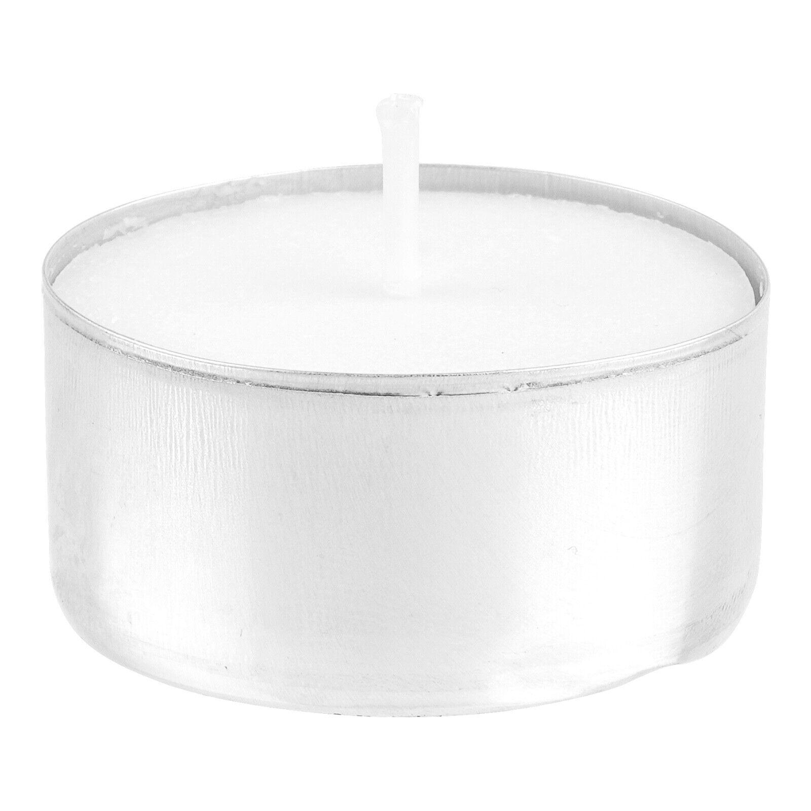 100-1000 Teelichter weiss 4 h Brenndauer Kerzen Teelichte in Alu Hülse Teelicht