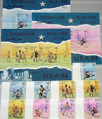 SOMALIA 1994 511-19 Block 30-32 Soccer World Cup USA Fußball WM Football MNH