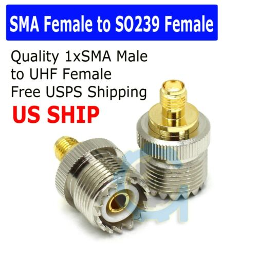 SMA Female To UHF Female PL259 PL259 Connector RF Coax Coaxial Barrel Adapter