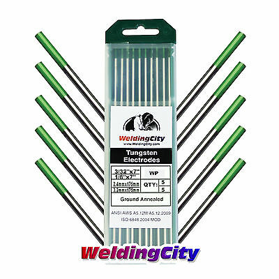 10-pk Tig Welding Tungsten Electrode Pure Green 332-18 X7 Us Seller Fast