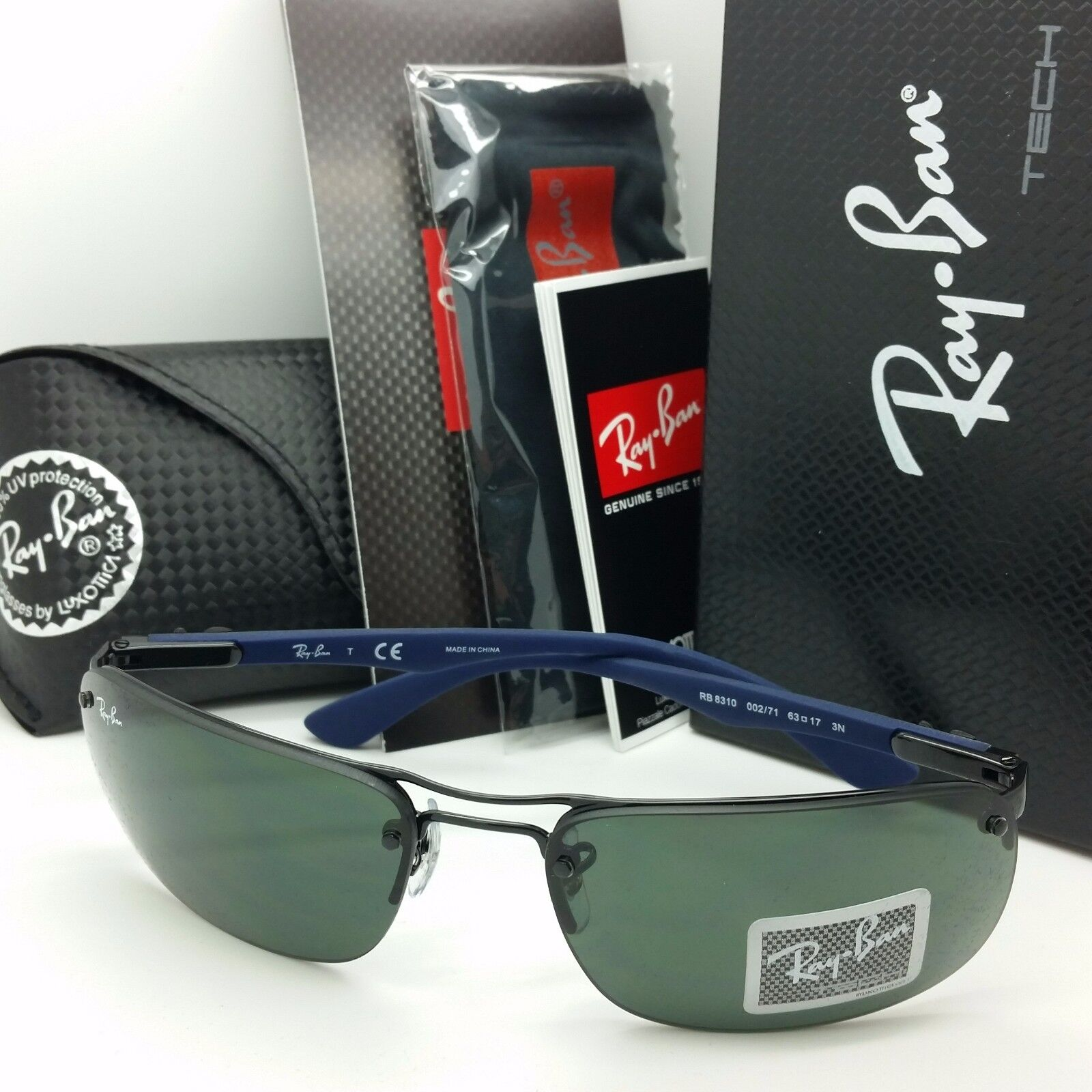 ac90fd93b9 UPC 805289742890 product image for Rayban Sunglasses Rb8310 002 71 63 Tech  Carbon Fiber Wire ...