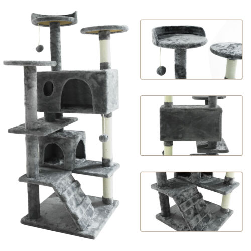 """52"""" Cat Tree Tower Activity Center Large Playing House Furniture Condo For Rest"""
