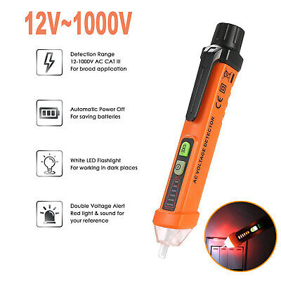 Ac Non-contact Lcd Electric Tester Pen Voltage Digital Detector Tester 121000v