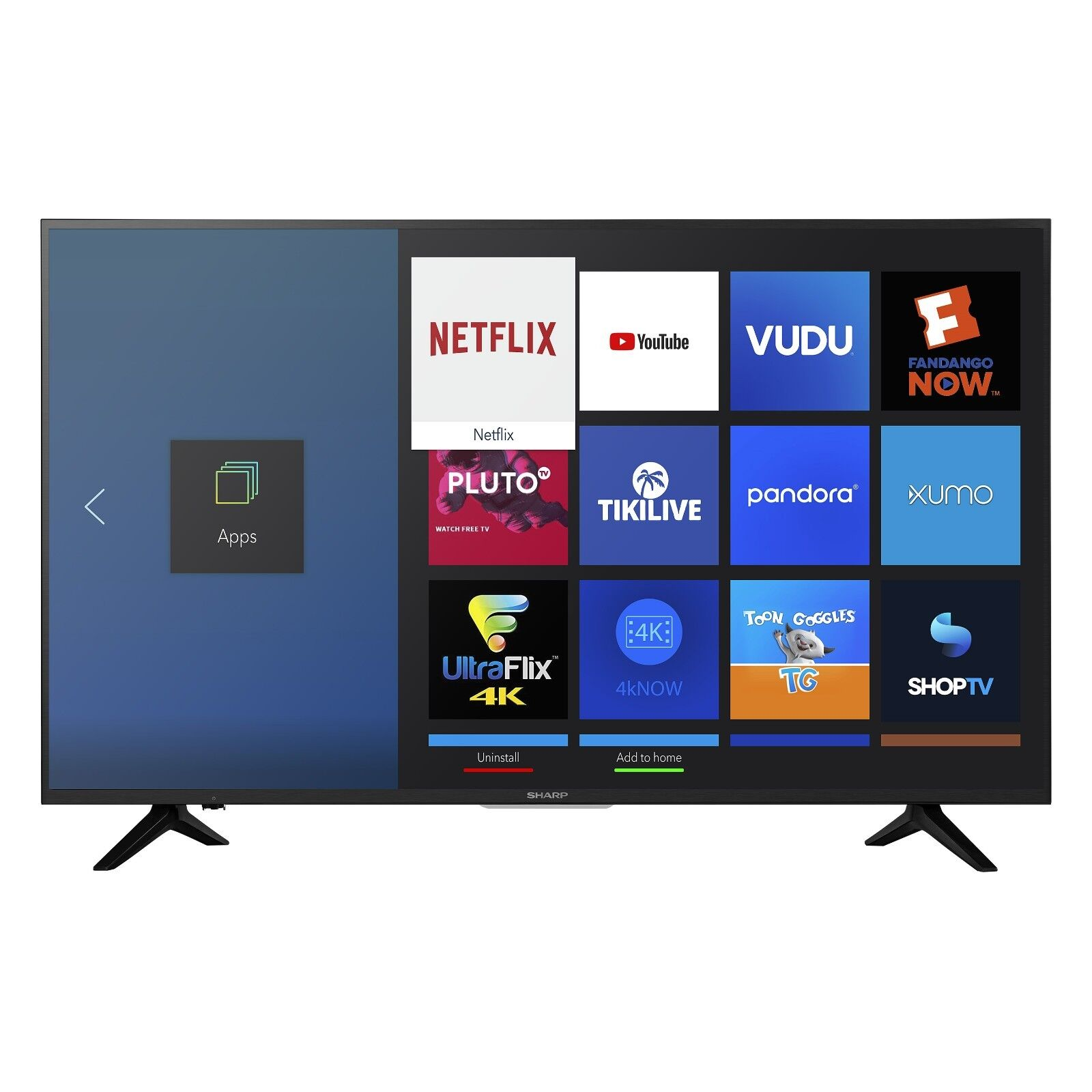 "Sharp 50"" Class 4K Ultra HD (2160p) HDR Smart LED TV (LC-50Q7030U) Free Shipping"