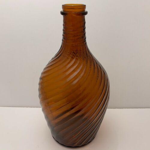 """Vintage 1930s 10.5""""H Bottle Clorox Brown Swirl Glass Owens Illinois Clarksburg"""