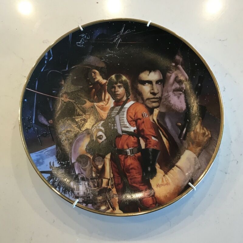 Star Wars Trilogy 1992 Collectors Plate Hamilton Collection Ready to Hang
