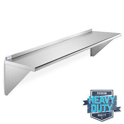 Open Box - Nsf Stainless Steel 12x60 Wall Shelf Commercial Restaurant Shelving