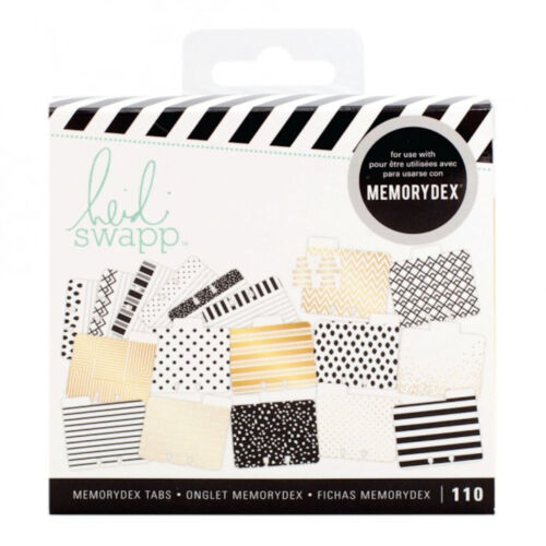 Heidi Swapp MEMORYDEX RECIPES (100) TABBED & LINED CARDS (10) STICKER LABELS
