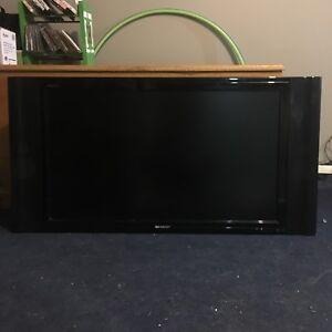 "Sharp Aquos 37"" Flat Screen TV w/ Wall Mount"