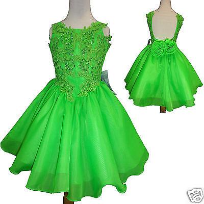 Green Dresses For Little Girls (Toddler & Little Girl Formal Dress for Pageant Wedding Green size: 1-7 yesrs)