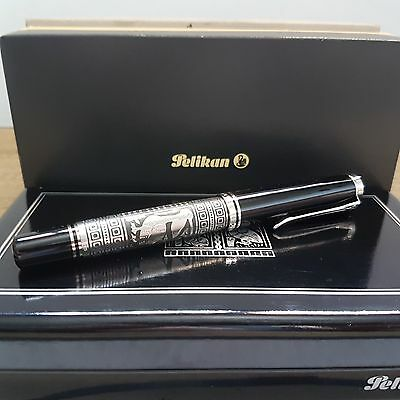Pelikan M910 Toledo Black-Silver Fountain Pen with M nib (Old Style) Rare