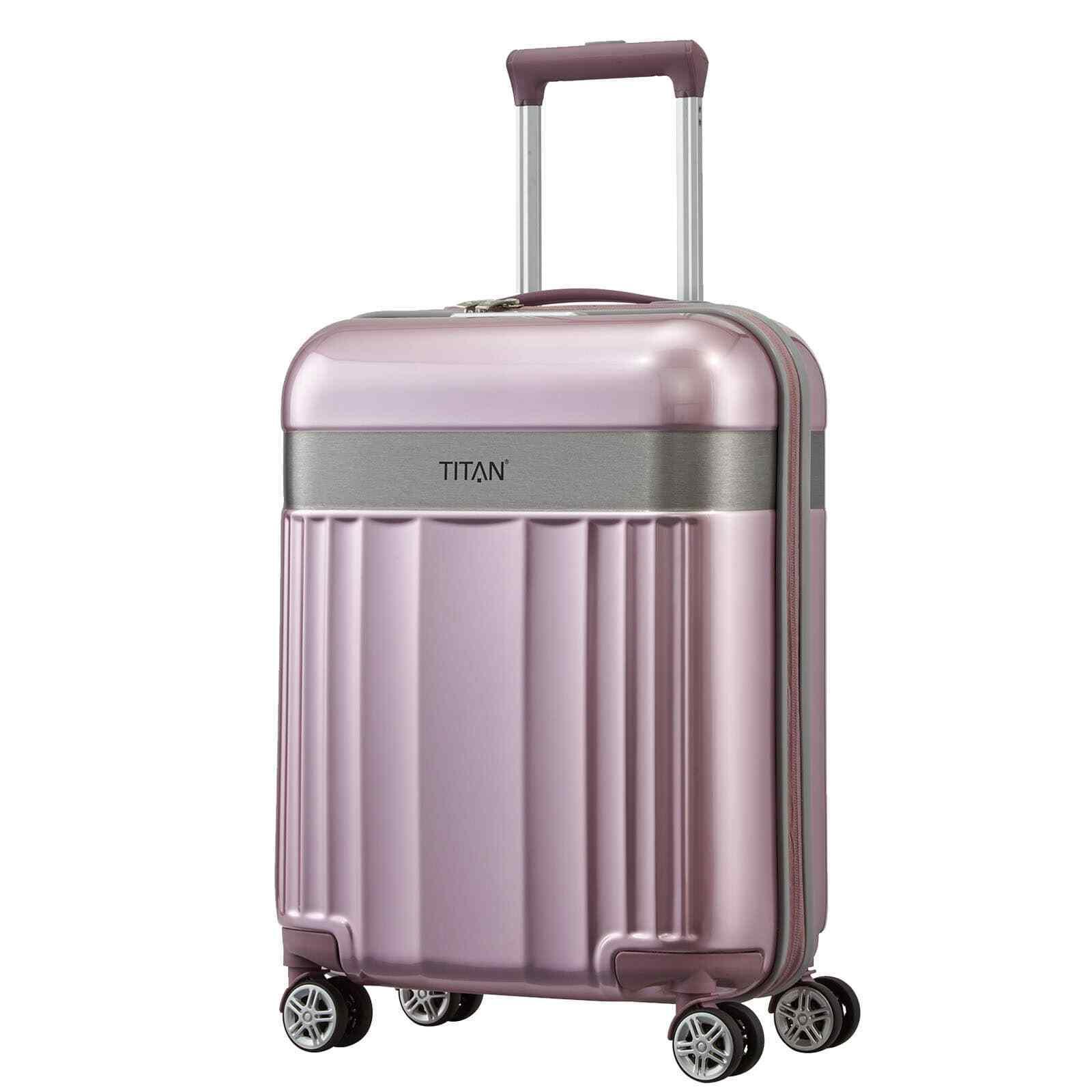 TITAN SPOTLIGHT FLASH 55cm Rose Pink Trolley Bordcase Bordgepäck Handgepäck 4Rad