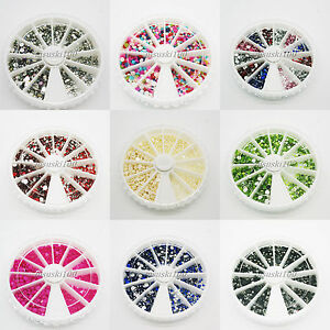 1800-Rhinestone-Wheel-Diamante-Crystal-Gems-Nail-Art-Cards-3D-Tips-Decoration