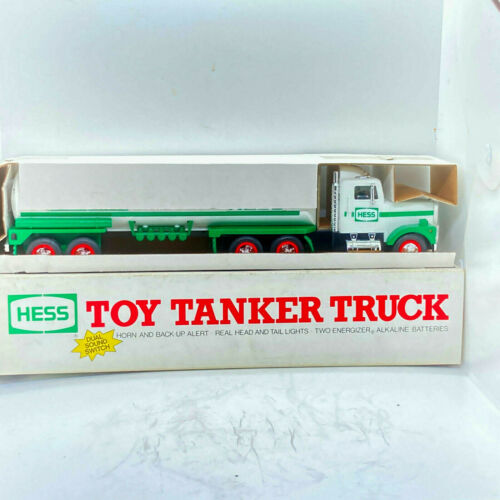 Hess 1990 Toy Tanker Truck Working Head and Tail Lights Horn Back-up Alert