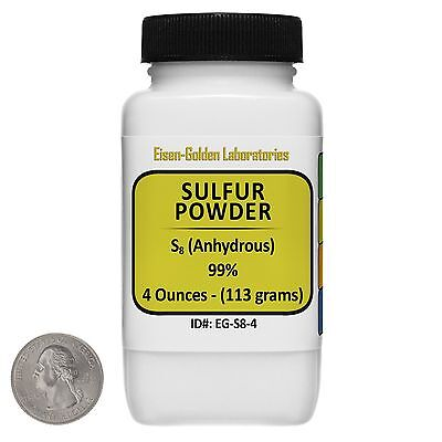 Sulfur Powder S8 99 Acs Grade Powder 4 Oz In A Space-saver Bottle Usa