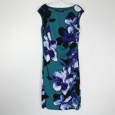 Ralph Lauren Women's Green, Black Floral Sleeveless Dress | Size 10 | NWT