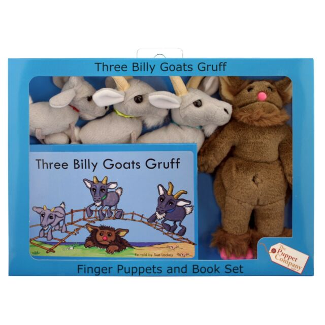 The Puppet Company - Traditional Story Sets - Three Billy Goats Gruff Puppet Set