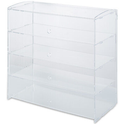 Acrylic Display Cabinet L20.8 X W9.4 X H19.2 Transparent 4 Shelves Bakery