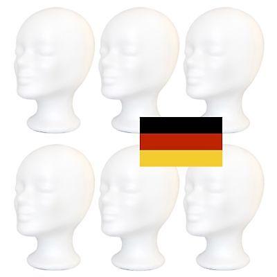 6 x Styroporkopf - Perückenkopf - Dekokopf - Made in Deutschland - II. Wahl