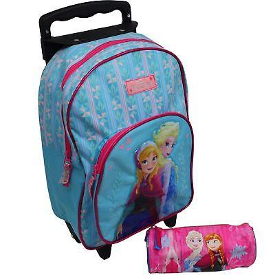 Eiskönigin Elsa Trolley Koffer Kinderkoffer Rucksack Disney Frozen 2 tlg Set