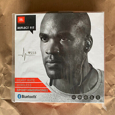 JBL Reflect Fit Wireless Sport Headphones with Heart Rate Monitor, Black, NEW for sale  Shipping to India