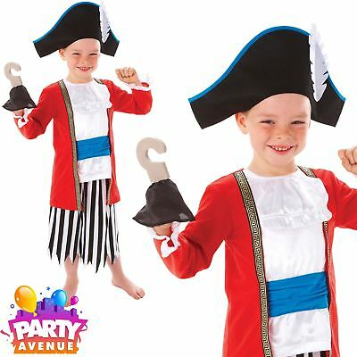 Captain Pirate Outfit Boys Pirate Fancy Dress Costume Hat and Hook Captain Outfit
