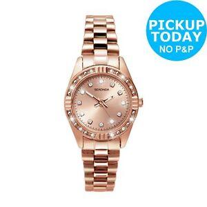 Sekonda Ladies' Stone Set Rose Gold Plated Bracelet Watch