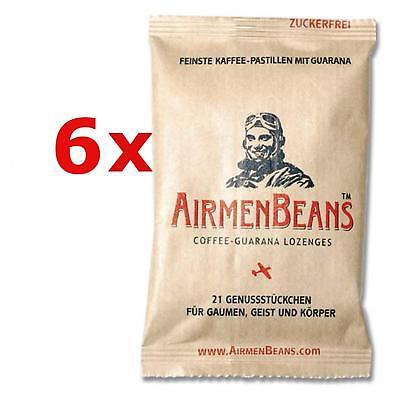 Airmen Beans 6x Kaffee Pastillen Guarana 126 St Coffein zuckerfrei Airmenbeans