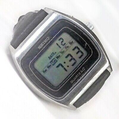 Vintage Seiko LC Digital Quartz Watch 0139-5029 Solid Steel Case 36mm Mens