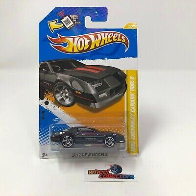 #1169  1985 Camaro IROC-Z #22 * Black * 2012 Hot Wheels * HE1