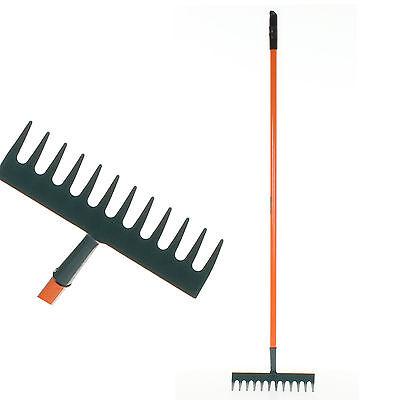 12 Tooth Rake Leaf  Rake Carbon Steel Leaves Debris Gardening Maintenance Metal
