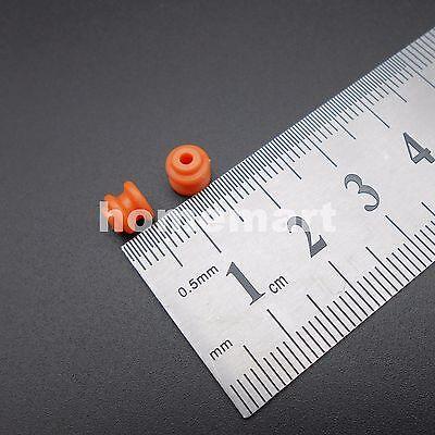 100pcs Plastic Pulley Gear Model Motor Wheel Dia.6mm Shaft Dia.2mm 1.95mm Orange