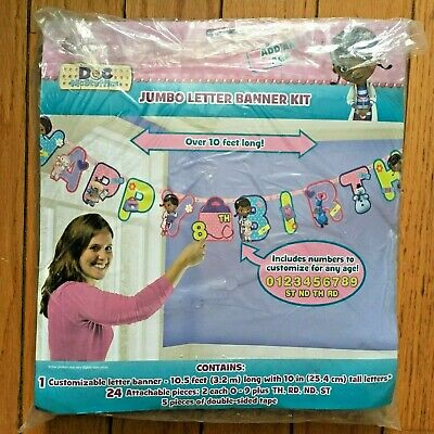 DISNEY HAPP BIRTHDAY JUMBO LETTER BANNER KIT