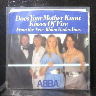 """ABBA - Does Your Mother Know / Kisses Of Fire 7"""" Mint- Vinyl 45 Atlantic 3574"""