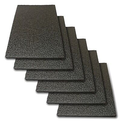 6x Foam Sheet 12x 8x 0.5 12 Thick Black Pe Packing Shipping Firm
