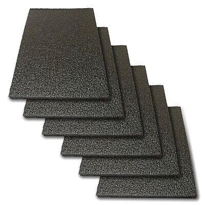 6x Foam Sheet 12 X 8 X 12 Black Polyethylene Packing Shipping Firm 998-61
