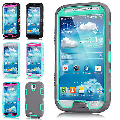 Rugged Rubber Protective Hard Matte Case Cover For SAMSUNG GALAXY S IV S4 (Best Rugged Galaxy S4 Case)
