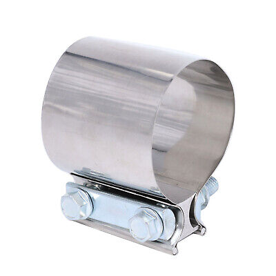 """Stainless Lap Joint Clamp Sleeve Band For Mini 2.5/"""" 2 1//2/"""" Exhaust OD Pip"""
