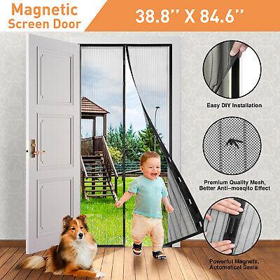 Hands-Free Magnetic Screen Door Mesh Net BLOCK Mosquito Fly Insect -
