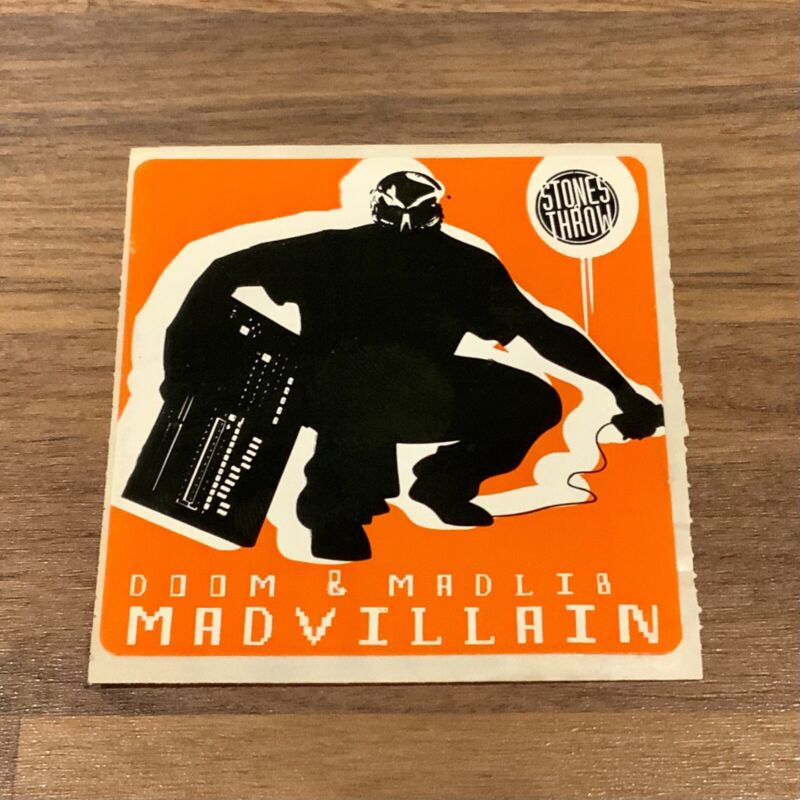 Vintage Madvillain MF DOOM Madlib Sticker - *Ultra Rare*