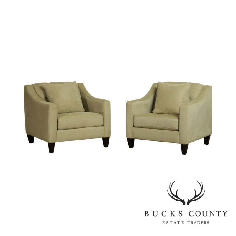 Bauhaus Furniture Quality Pair Upholstered Lounge Chairs