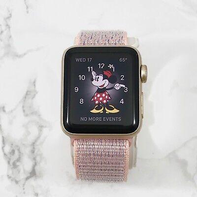 Apple Watch Gen 1 38mm Gold Aluminium Case Series 7000 Pink Sand Loop
