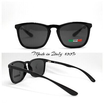 Made IN Italy Gafas de Sol Hombre Mujer Clásico Cuadrado Oval Negro...