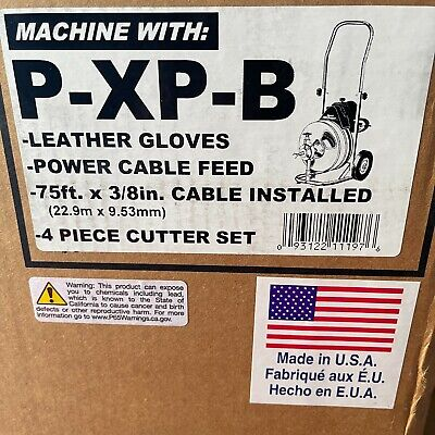 General Wire Mini-rooter P-xp-b Drainsewer Cleaning Machine 75ft. X 38 Cable
